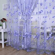 Modern Tulle Curtains For Living Room Purple Curtains For Children Bedroom Door Short Kitchen Window Curtains Kids Drape 971153 Blinds Shades Shutters Aliexpress