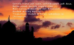 kata maaf dan rindu bulan ramadhan untuk caption dan status