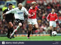 SETH JOHNSON DAVID BECKHAM MANCHESTER UTD V DERBY COUNTY 11 March ...