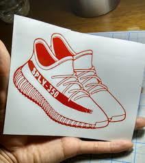 Yeezy Decal Sneaker Shoes Vinyl Sticker Adidas Adidas Decal Head Shoe Sneaker Sticker Yeezy Yeezy Vinyl Sticker Sneakers
