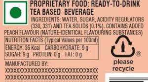 understand the label peach coca cola