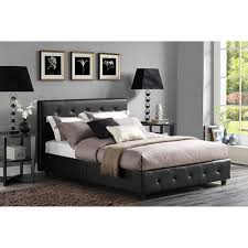 black faux leather headboard bedroom