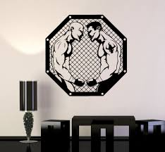 Wall Decal Mma Fighters Fan Martial Arts Sport Fight Vinyl Stickers Unique Gift Ig2973 Wall Decals Vinyl Sticker Sports Fights