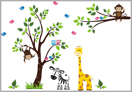 Zoo Animal Decals Nursery Wall Decals Jungle Animal Decals Safar Nurserydecals4you
