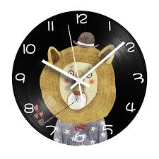 Cartoon Lion Lp Vinyl Record Clock Shabby Chic Decorative Digital Wall Clock For Kids Room With Mute Mechanism Home Decor Wall Clocks Aliexpress