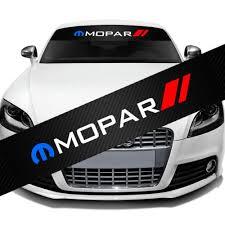 Mopar Front Window Windshield Carbon Fiber Vinyl Banner Decal Sticker Wish