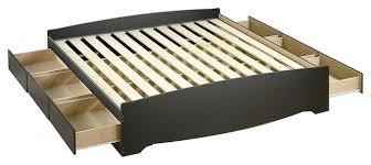 king size black wood platform bed frame