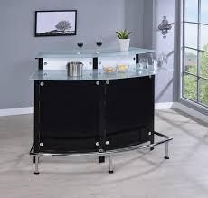 glass top bar unit black coaster fine