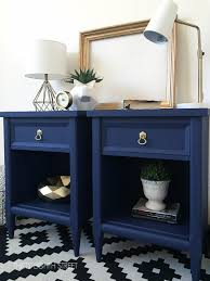 modern painted nightstands with country
