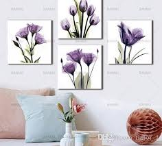 2020 Banmu Wall Art Picture Canvas Painting Print Elegant Tulip Purple Flower Canvas Print Wall Art Painting For Living Room No Frame From Timor 1 46 9 Dhgate Com