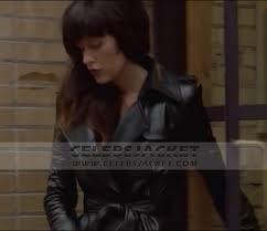 Leather Nurse 3D Coat For Sale - Paz De La Huerta Abby Russell Coat
