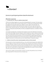 fee disclosure - participant FAQs