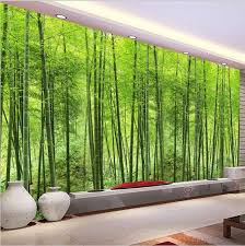 3d Modern Green Bamboo Trees Forest Wall Mural Wallpaper Wall Painting Living Room 3d Wallpaper For Walls Living Room Murals