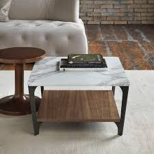 soho square marble wood coffee table