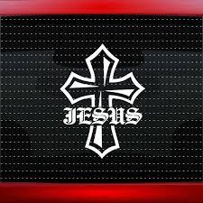 Jesus Cross 1 Christian Car Decal Truck Window Vinyl Sticker Wish