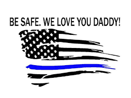 Tattered American Thin Blue Line Be Safe Vinyl Decal Back Etsy