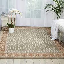 light green rectangle area rug