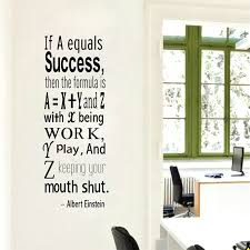 Einstein Success Quote Wall Decals Inspirational Wall Quote College Dorm Decor Library Decal Math Formula Office Wall Decor Wall Decor Vinyl Decorative Wall Boxesdecorative Wall Techniques Aliexpress