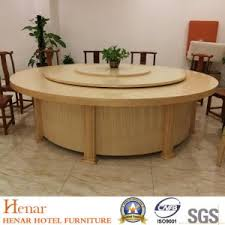 restaurant wooden round dining table
