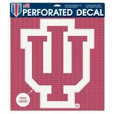 Iu Indiana Hoosiers Car Window Decal Perforated Large For Sale Online