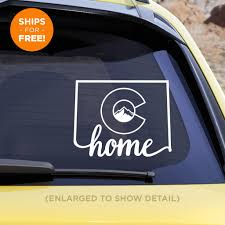 Colorado State Home Decal Silver Logic Web Print Services
