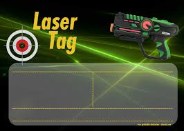 Free Printable Laser Tag Invitation Templates Laser Tag Invitations