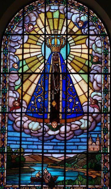 """Resultado de imagem para Nossa Senhora da Conceição Aparecida vitral"""""""