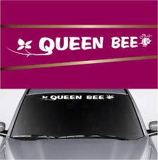 Queen Bee Custom Car Windshield Decal Topchoicedecals