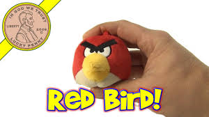 angry birds red bird small 3 clip on