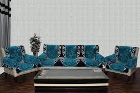 fl chenille sofa cover farari blue