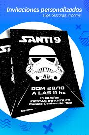 Invitacion De Star Wars Ideal Para Cumpleanos Sorprende A Tus