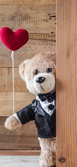 teddy bears love hearts 5120x2880 uhd