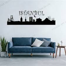 Large Istanbul City Wall Decal Wallpaper On The Wal In The Interior Bedroom Boys Girls Bedroom Vinyl Wall Sticker Murals Rb 02 Wall Stickers Aliexpress