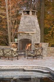 freestanding outdoor fireplace patio