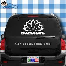 Namaste Lotus Flower Car Window Laptop Wall Decal Sticker