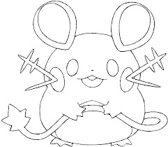 Pokemon Dedenne Coloring Pages