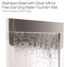 mirror wall water feature steel frame