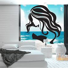 Beauty Face Girl Hair Salon Vinyl Wall Art Decal