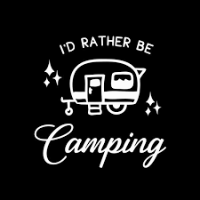 I D Rather Be Camping Vehicle Window Decal