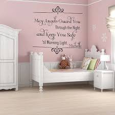 May Angel Guard You Through The Night And Keep You Safe Until The Morning Light Quotes Wall Stickers Custom Name Wall Decal 664c Name Wall Decals Wall Decalsname Wall Stickers Aliexpress