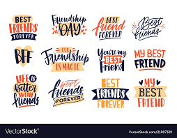 collection of friends and friendship quotes vector image