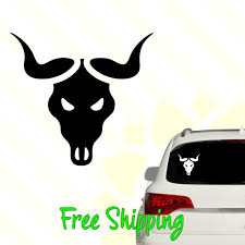 Bull Skull Vinyl Decal Car Truck Window Laptop Sticker