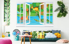Kids Wallpaper Dino Wallstickers Kids Room Nursery Wall Decals Stickerbombing Eu