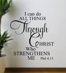 Do Quotes Through Who Strengthens Me Bible Art Sticker Vinyl Wall Decal Christ For Sale Online Ebay