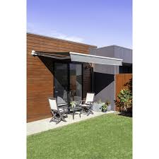 Windoware 3 X 2m Charcoal Easy Fit Awning Bunnings Warehouse
