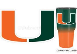 Miami Hurricanes 4 Premium Die Cut Vinyl Decal Sticker For Tumbler Cup Car Ebay