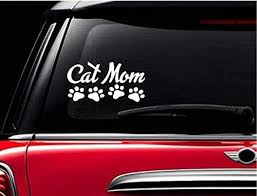 Amazon Com Stickerloaf Brand Cat Mom Pet Decal Car Truck Auto Window Sticker Bumper Decal Any Color Love Cats Kitten Animal Rescue Pets Paw Paws Handmade