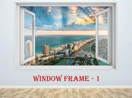 Miami Decal Miami Sticker Miami Print Cityscape 3d Window Etsy