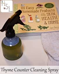thyme counter cleaning spray homespun