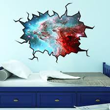 Vwaq Outer Space Stars Wall Decal Universe Sticker Cracked Wall Decal Space Wc5 18 H X 22 W Walmart Com Walmart Com